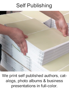 print, self published authors, catalogs, photo albums, business presentations. full-color.